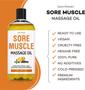 Seven Minerals Massage Oil, Sore Muscle, 16oz, Key Features