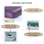 Custom Craftworks Mckenzie Lift Back Electric Massage Table-options