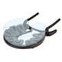 Earthlite Caress Self-Adjusting Head Rest with Strata Face Pillow - translucent