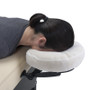 Earthlite Fitted Disposable Face Pillow Covers - in use