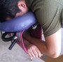 Pisces Pro Massage Table Arm Sling in use