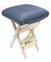 Custom Craftworks Massage Therapist Wooden Folding Stool, Agate
