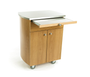Touch America Rolling Spa Cabinet, TIMBALE, Stainless Steel Top, with pull-out workspace