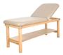 Oakworks Stationary Massage Table, Wave Backrest, SEYCHELLE
