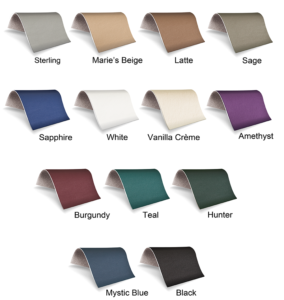 Earthlite Natursoft Upholstery Colors