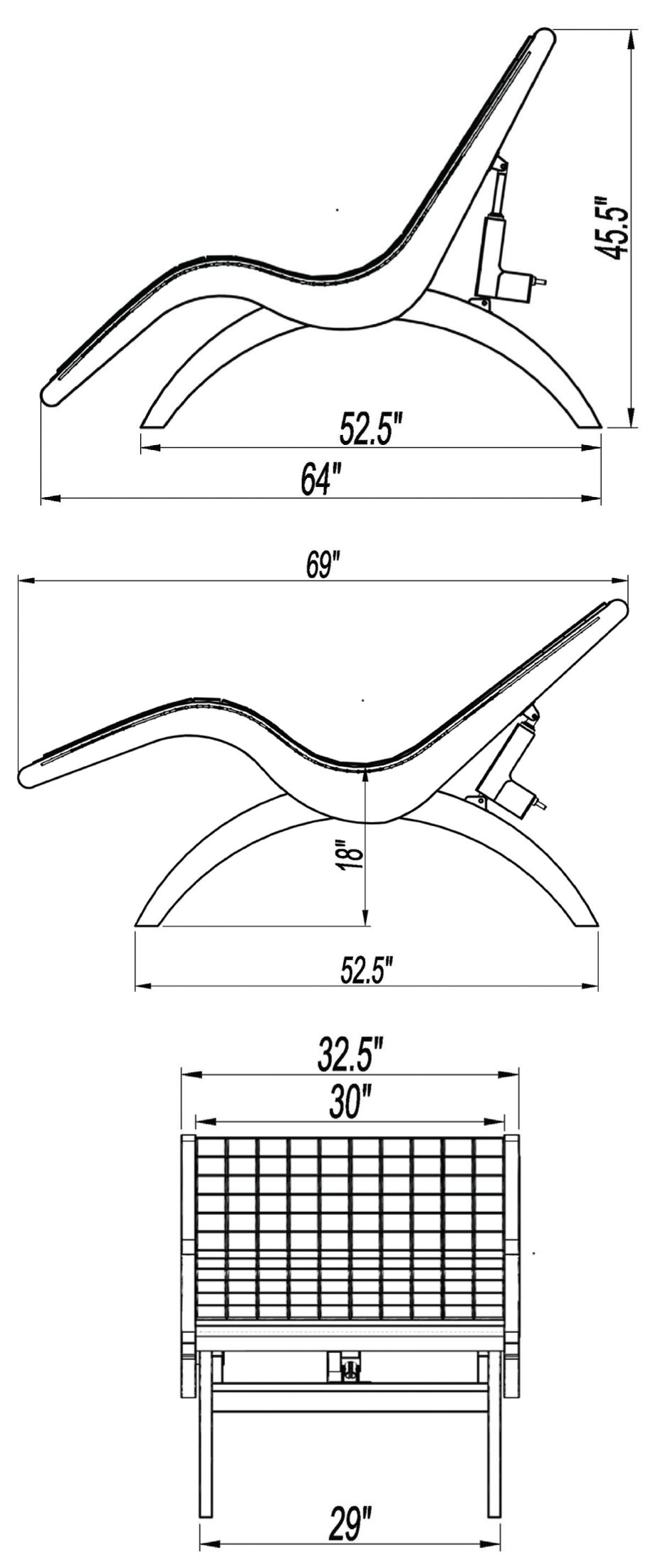 S-Lounge Dimensions