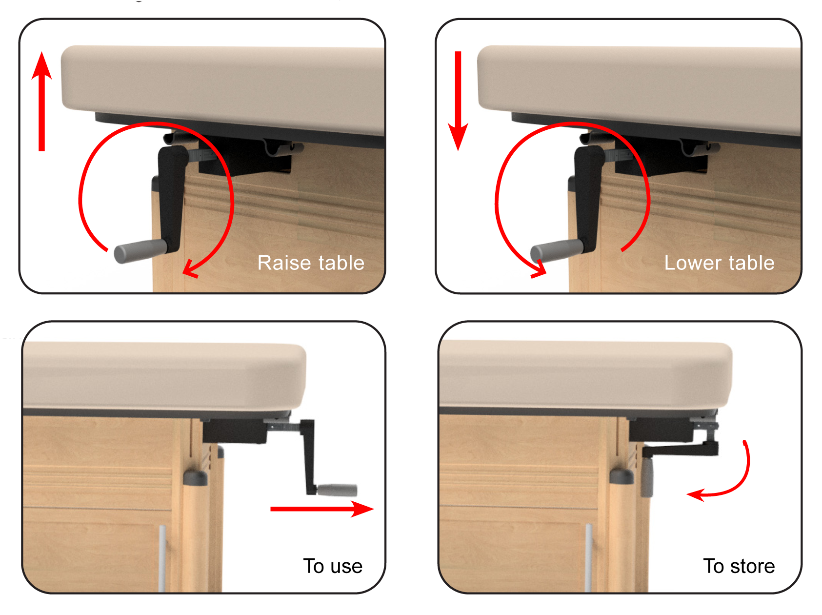 Oakworks Clinician Hydraulic Massage Table Lift