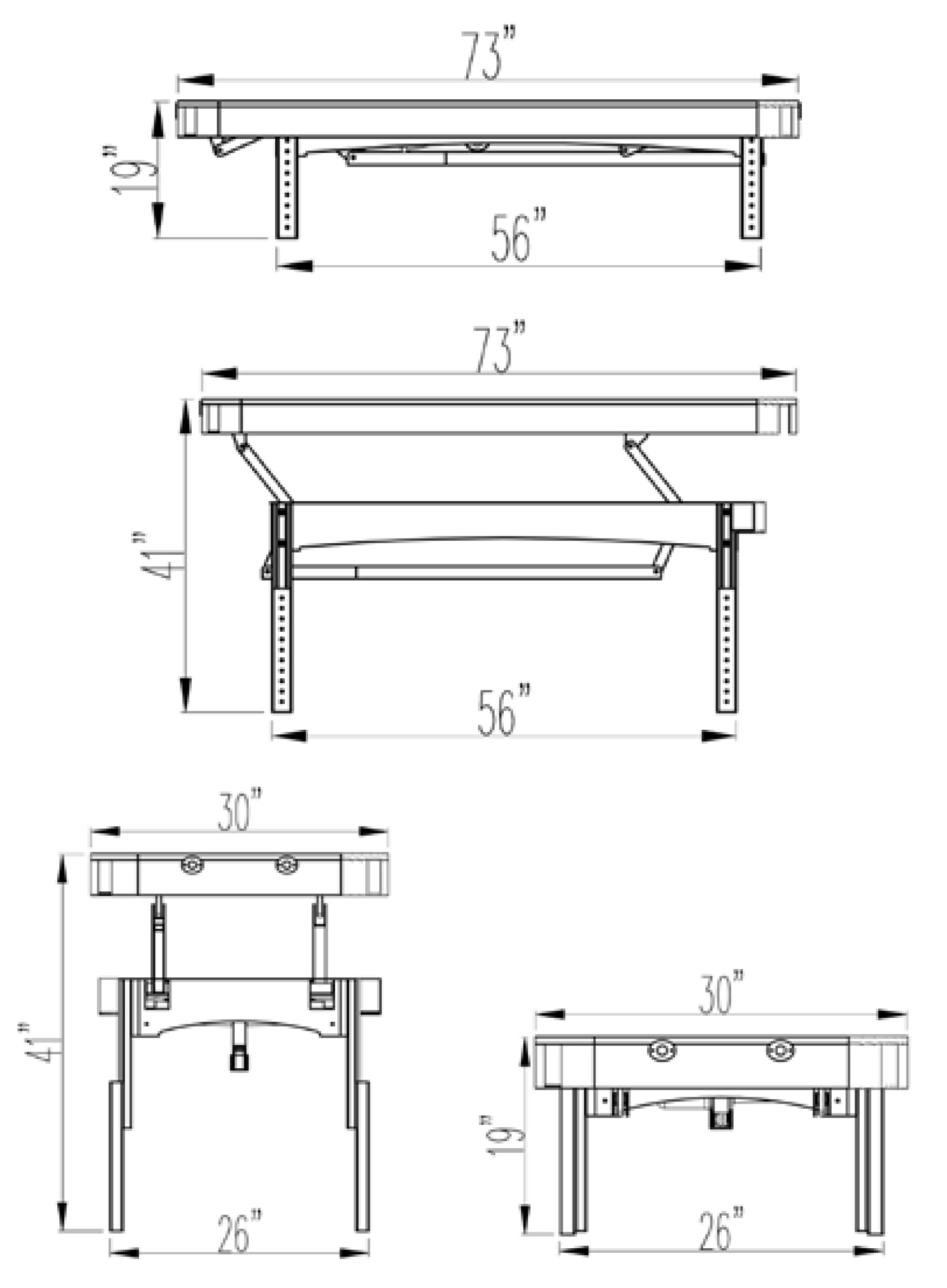 Olympus Massage Table Dimensions