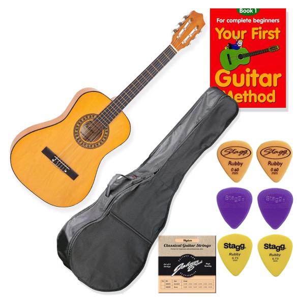 School Guitar Starter Pack Left Handed 3/4 Size