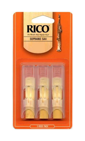 Rico  soprano saxophone reeds  1 1/2 gauge ( 3 pack )