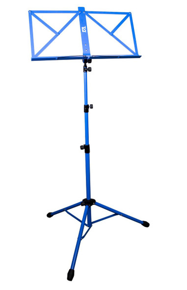 Deluxe Music Stand With Soft Carrying Bag In Blue