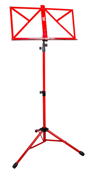 Deluxe Music Stand With Soft Carrying Bag In Red