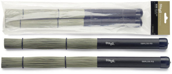 Polybristle Straw Brushes With Black Rubber Handle Grip