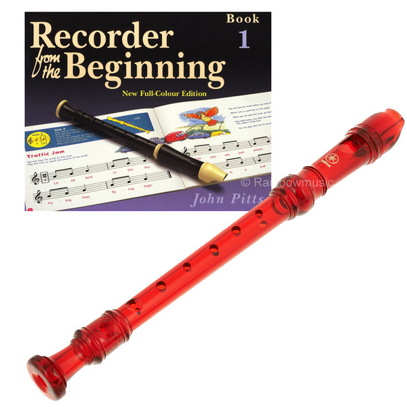 Yamaha  YRS20BR Descant School Recorder Translucent Red With Book 1