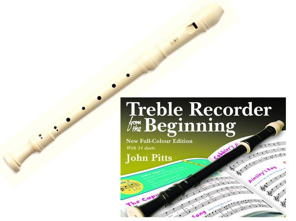 Yamaha YRA-28B III Baroque Alto/ Cream Treble Recorder With Book