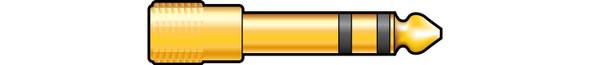 Adaptors 6.3mm Stereo Jack Plug – 3.5mm Stereo Jack Socket