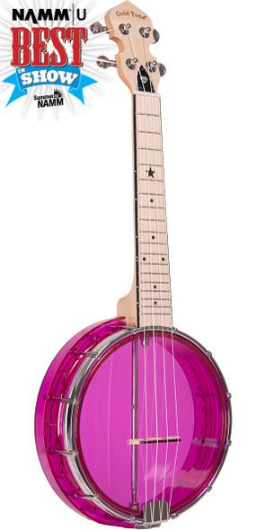 Gold Tone Little Gem (Amethyst): See-Through Banjo-Ukulele