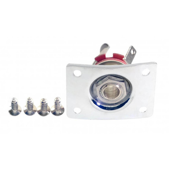 Guitar Jack Socket With Fixing Plate And  Screws