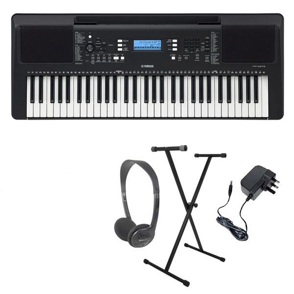 Yamaha PSR-E373 Portable Electronic Keyboard 61 keys Pack 1