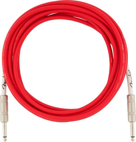Fender Guitar Cable/Lead 15ft 4.5M Fiesta Red