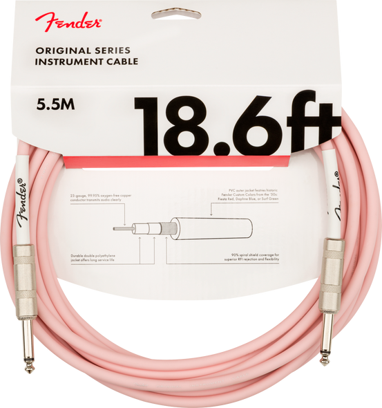 Fender Guitar Cable/Lead 18.6ft 5.5M  Limited edition Original series Shell Pink