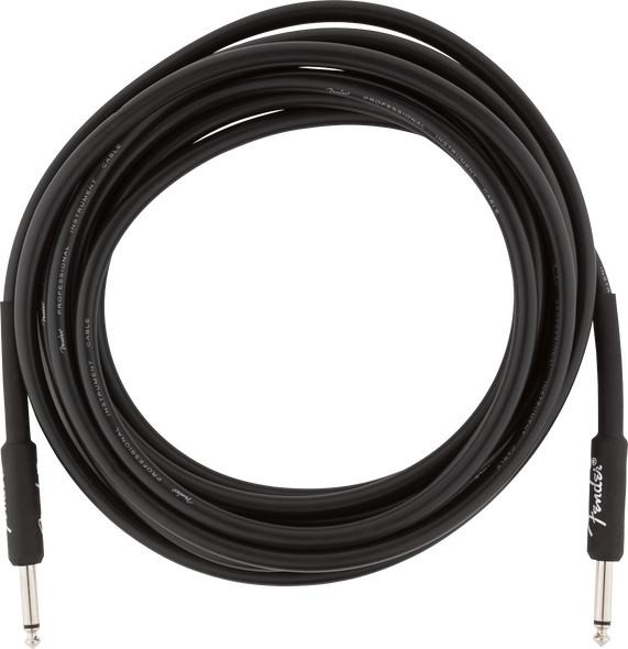 Fender Guitar Cable/Lead 15ft 4.5M Black Professional Series
