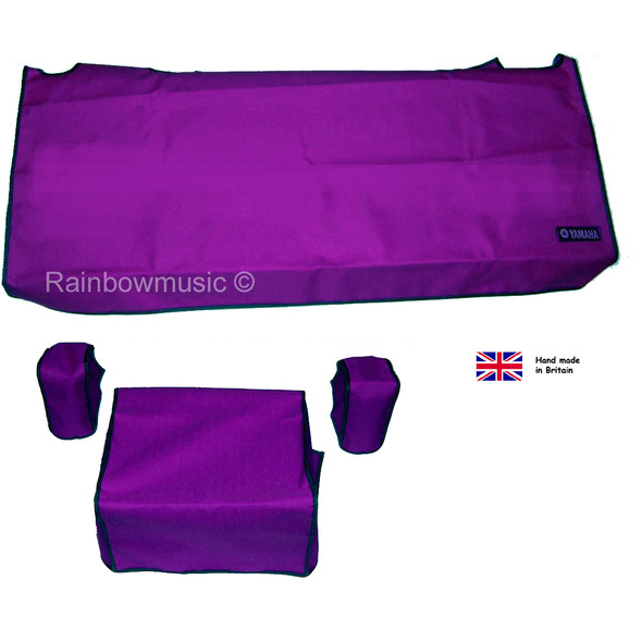 Deluxe Dust Cover Set For Yamaha Genos Electronic Keyboard Purple