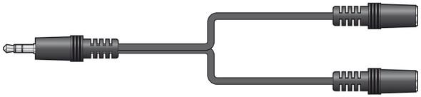 Headphone Splitter Lead  3.5mm Stereo Plug to 2 x 3.5mm Stereo Sockets