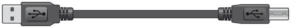 USB  2.0 Lead Type A Plug to Type B Plug  1.5m
