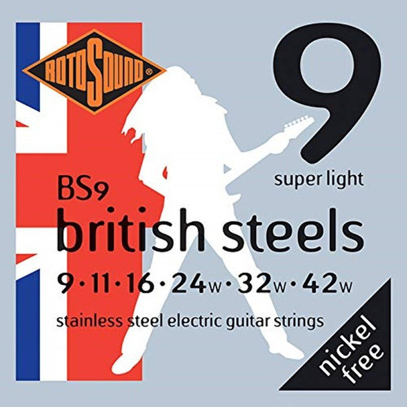 Rotosound British Steels Stainless Steel Electric Guitar String Set