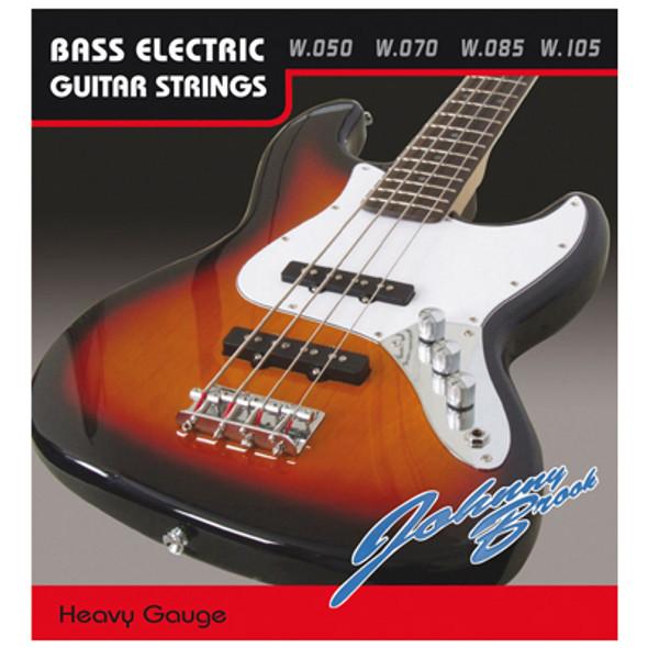 Heavy 50 Gauge Bass Guitar Strings Set of 4 High quality set of steel bass guitar strings.