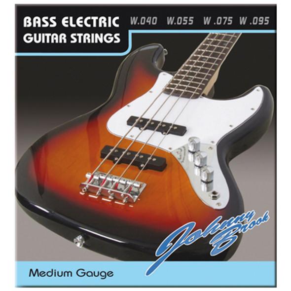 Medium 40 Gauge Bass Guitar Strings Set of 4 High quality set of steel bass guitar strings.