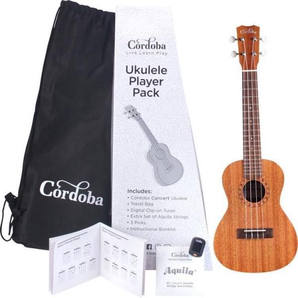 Cordoba Concert Ukulele Player Pack C