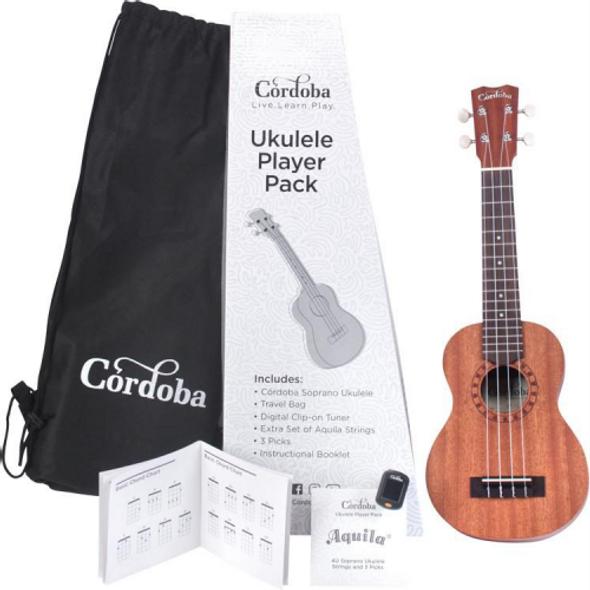 Cordoba Soprano Ukulele Player Pack S