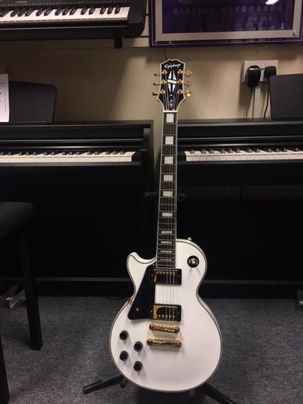 Epiphone Les Paul Custom Left Handed Electric Guitar Alpine White