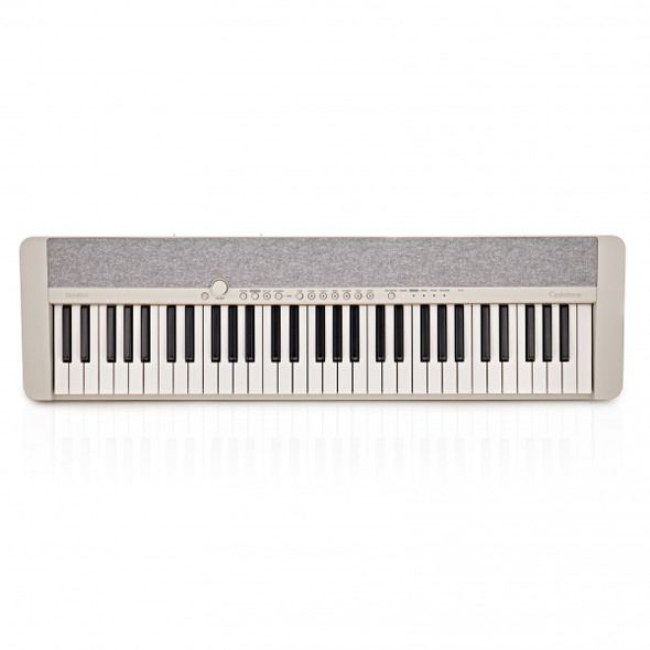 Casio CT-S1 Portable Electronic Keyboard Piano With Free Sustain Pedal, White