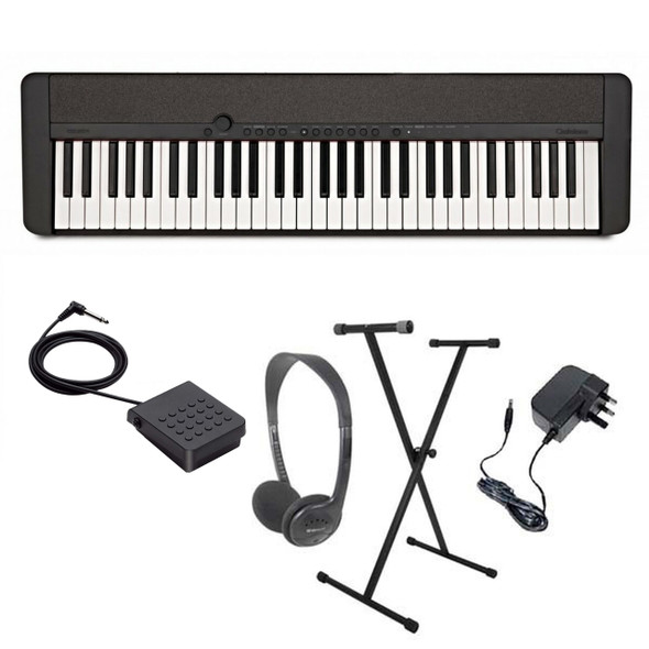Casio CT-S1 Portable Electronic Keyboard Piano Pack 1  Black