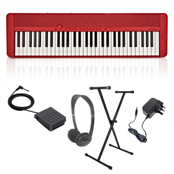 Casio CT-S1 Portable Electronic Keyboard Piano Pack 1  Red