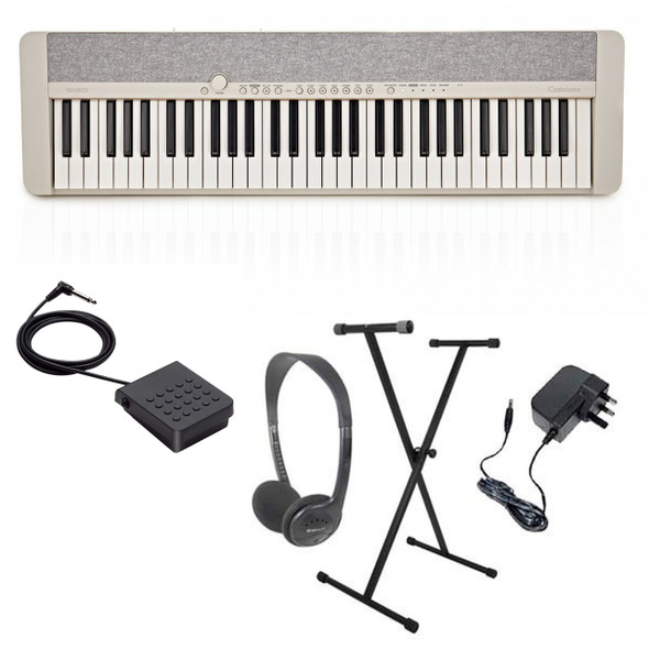 Casio CT-S1 Portable Electronic Keyboard Piano Pack 1  White