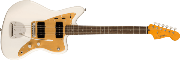 Fender Squire FSR Classic Vibe Late '50s Jazzmaster®, Gold Anodized Pickguard, White Blonde