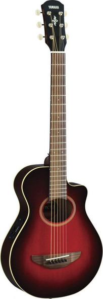 Yamaha APXT2 ¾ Size Electro-Acoustic Travel Guitar In Dark Red Burst finish, with gigbag
