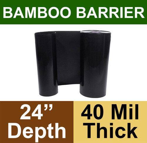 """Bamboo Barrier - Rhizome Barrier - 24"""" x 100' Roll - 40 mil Thickness"""