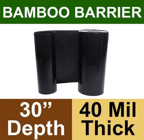 """Bamboo Barrier - Rhizome Barrier - 30"""" x 100' Roll - 40 mil Thickness"""