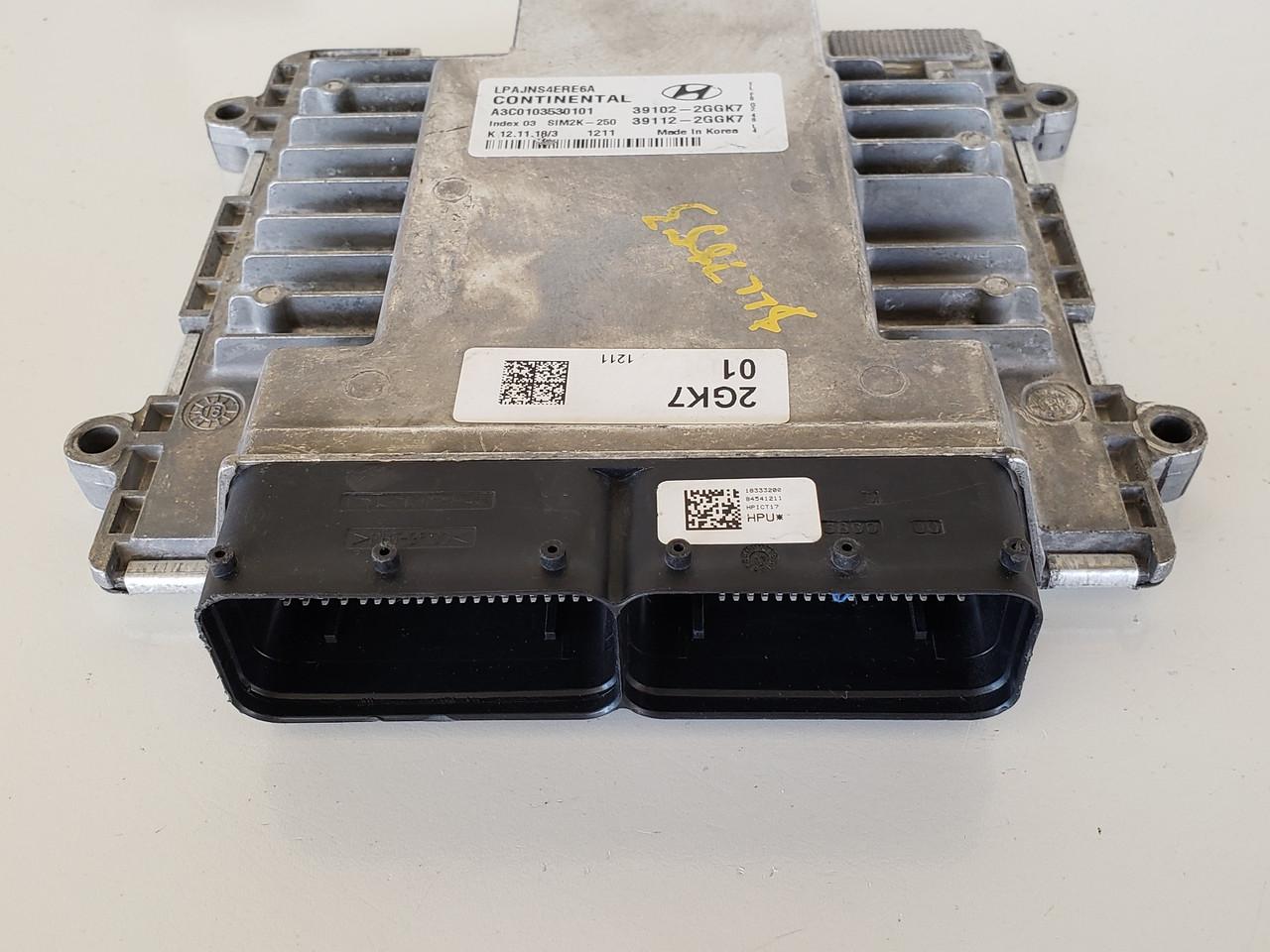 2018-2019 Sonata 39112-2GGK7 Computer Brain Engine Control ECU ECM EBX Module