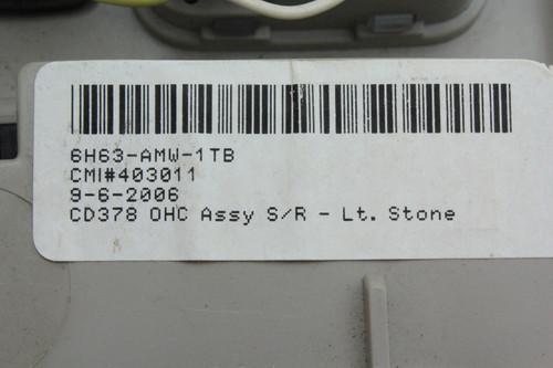 06-09 Lincoln MKZ Overhead Over Head Console Control Unit
