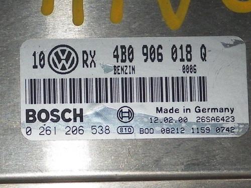 00 01 02 A4 99 00 01 PASSAT 1.8L AT COMPUTER BRAIN ENGINE CONTROL ECU ECM UNIT