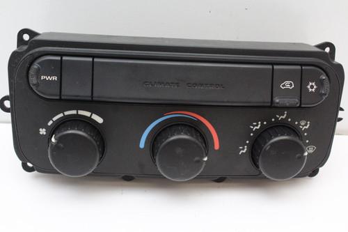 01 02 Carvan Voyager 0500500AH Climate Control Panel Temperature Unit A/C Heater