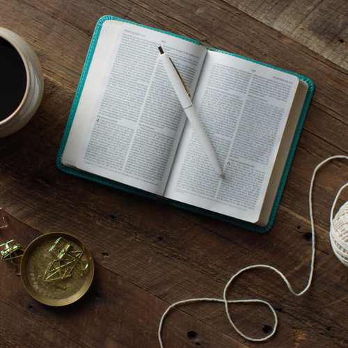 The ESV Compact Bible fits conveniently in small spaces. It is a great fit for anyone who likes to carry the Bible on their person.
