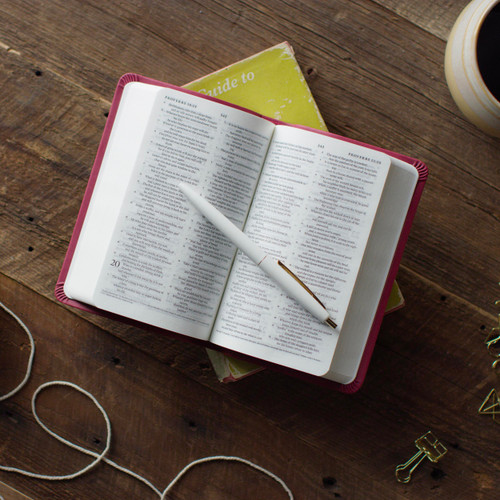 TheESV Compact Biblefits conveniently in small spaces.
