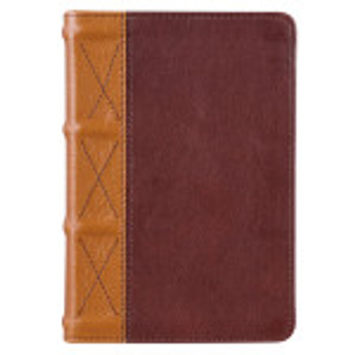 ThisTwo-Tone Camel Tan and Bible Large Print Compact King James Version Bibleis easy to read and is larger than the aver 10-point text size to reduce eye strain.